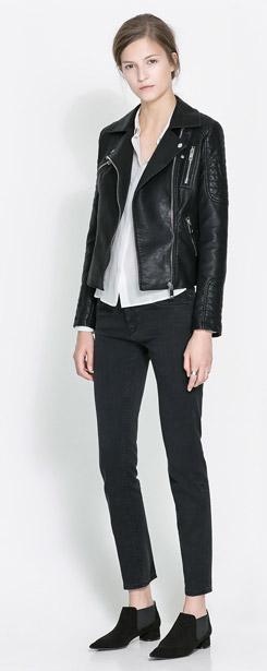 Zara Motorcycle Jacket with Zips