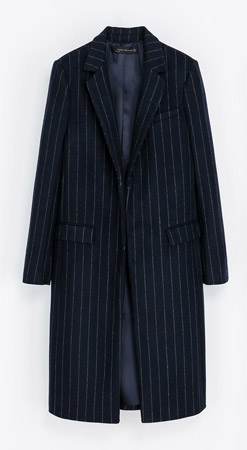 Zara Pin Stripe Coat
