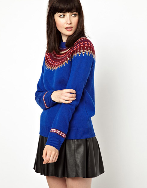 ASOS Boutique by Jaeger Fairisle Knitted Sweater