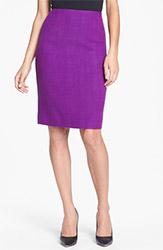Anne Klein Herringbone Pencil Skirt