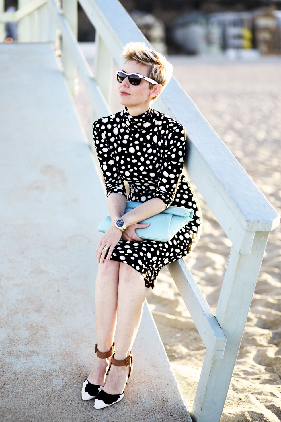 dressy at santa monica beach ylf