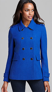 Calvin Klein Peacoat Double Breasted Military Coat