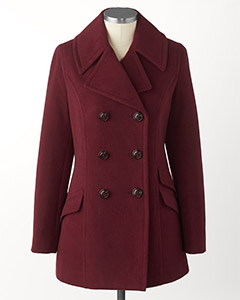 Coldwater Creek Refined Peacoat