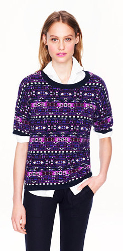 Collection Cashmere Fair Isle Back Zip Sweater
