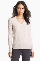 Halogen V Neck Cashmere Sweater