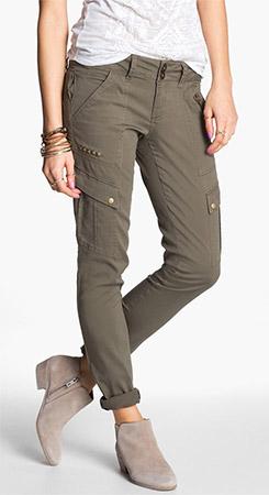 Jolt Studded Skinny Cargo Pants