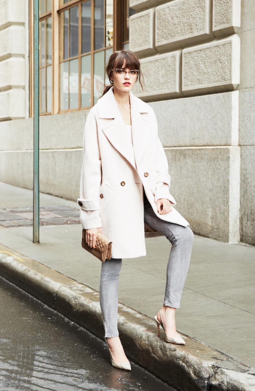 Nancy Sheared Wool and Alpaca Blend Coat