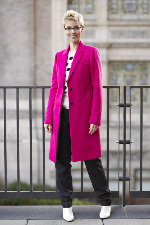 Pink Coat Open - Full