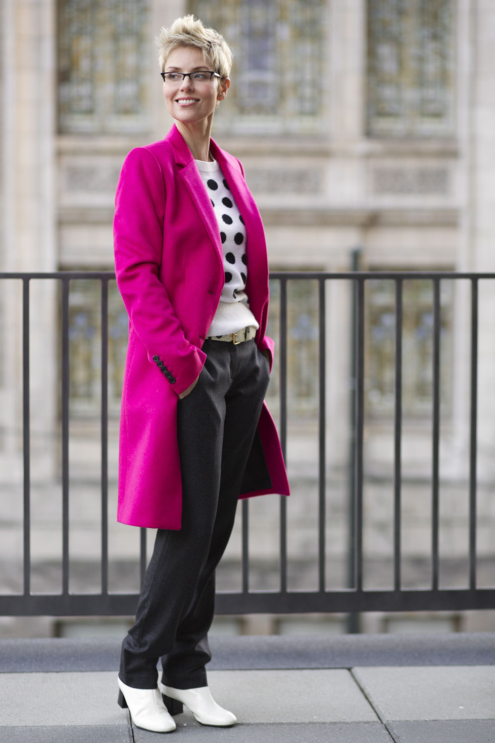Pink Coat - Pockets