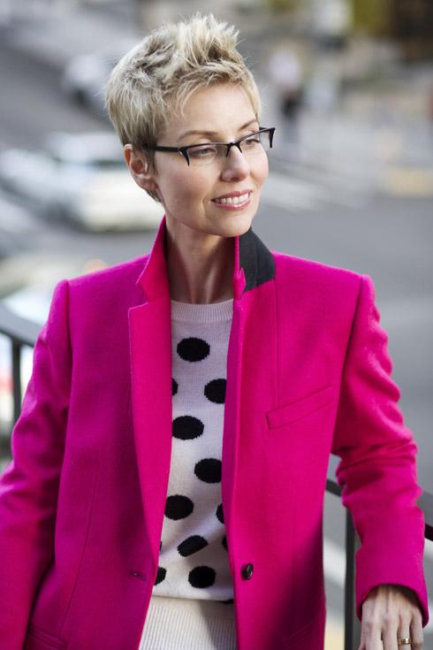 Pink Coat - Close