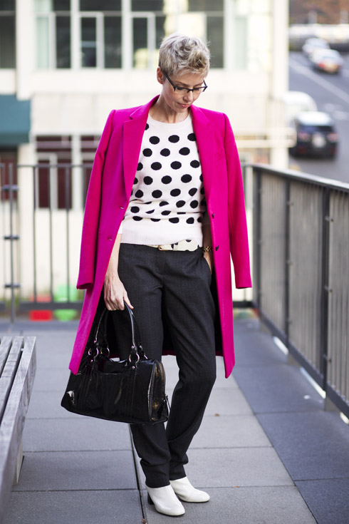 Pink Coat - Two Shoulders