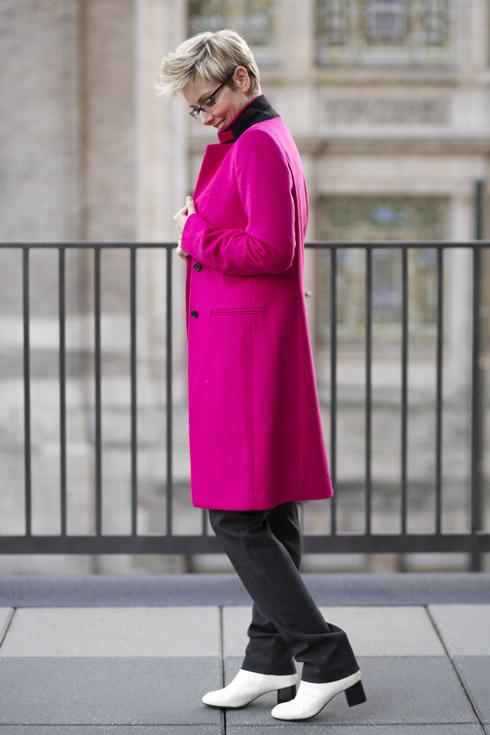 Pink Coat - Side