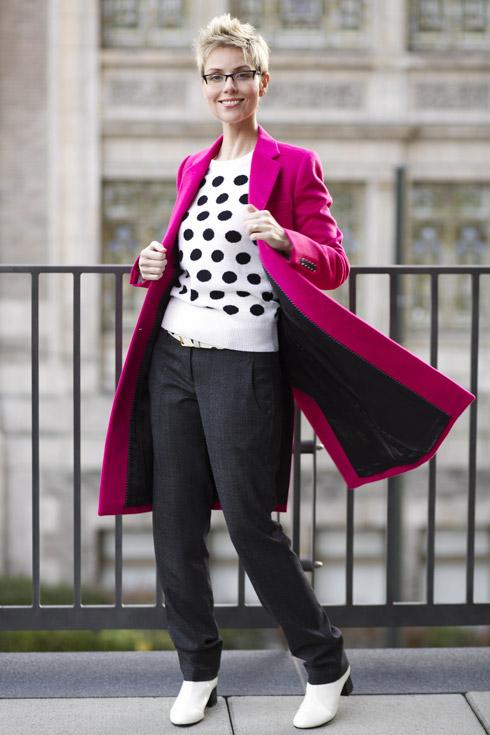 Pink Coat - Twirl