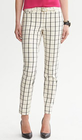 Sloan Fit Windowpane Slim Ankle Pant
