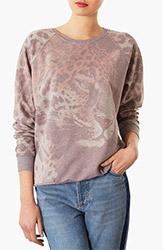 Topshop Leopard Sweatshirt