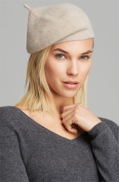 C by Bloomingdale's Angelina Cashmere Beret