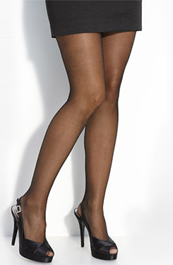 Pantyhose for open toed shoes
