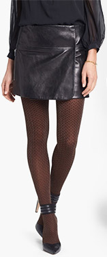 Hue Shimmer Herringbone Tights