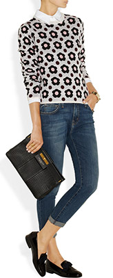 MARC BY MARC JACOBS East End Quilted Lady Rei Leather Clutch