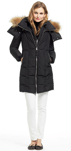 Eileen Fur Hood Puffer Coat