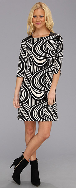 Eliza J Three Quarter Sleeve Shift Dress