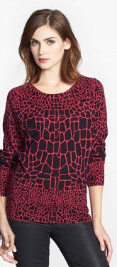 Halogen Print Wool & Cashmere Sweater