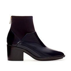 High Heel Leather Ankle Boot