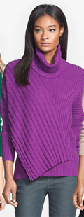 Lafayette 148 New York Dolman Sleeve Rib Sweater