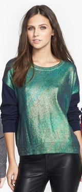 Leith Metallic Front Pullover