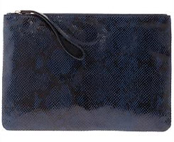 Python Embossed Oversized Clutch