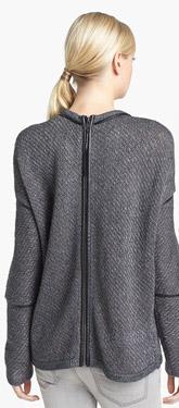 Trouvé Faux Leather Trim Reversible Sweater