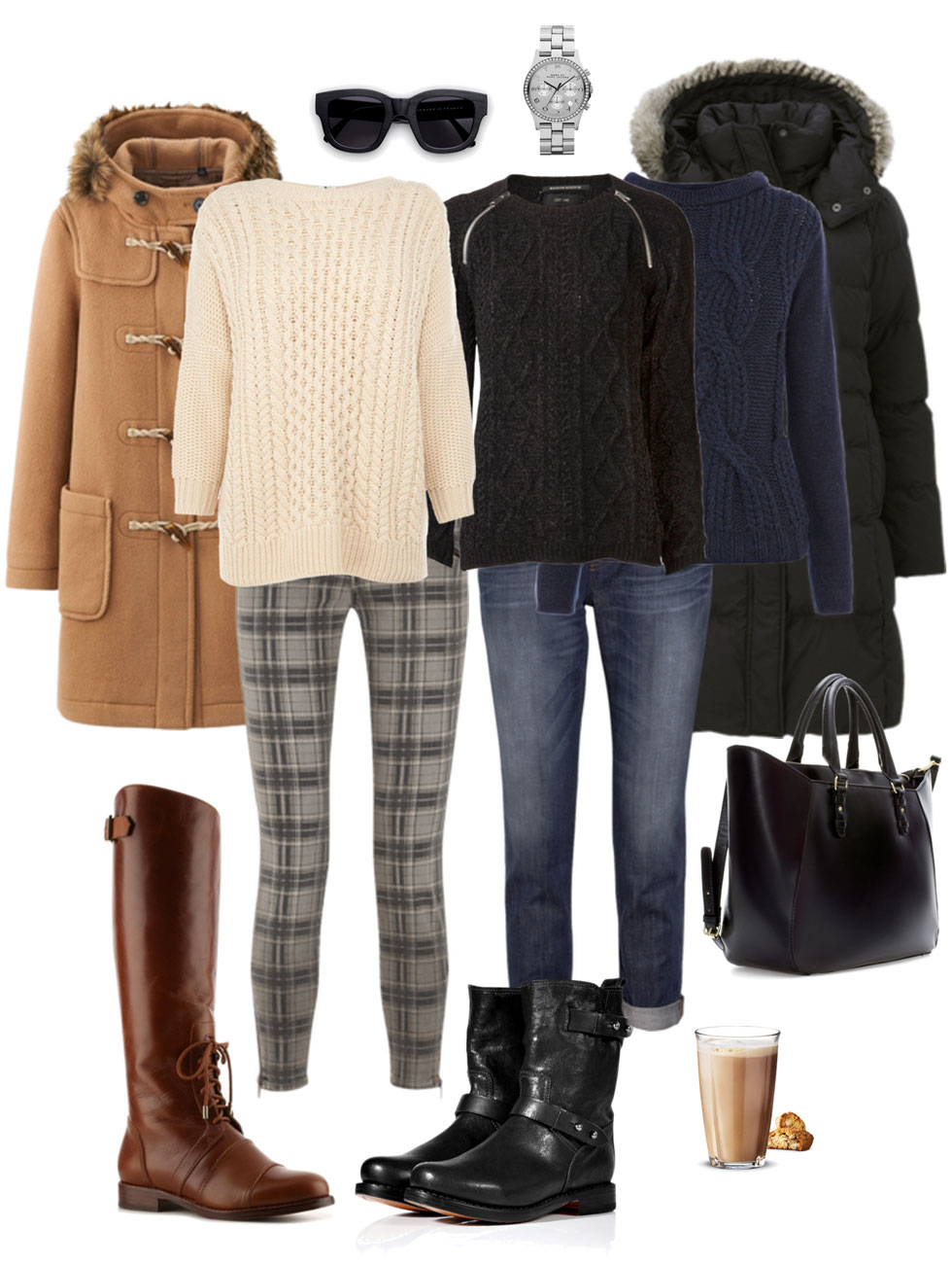 Skinnies with Boots and Chunky Sweaters