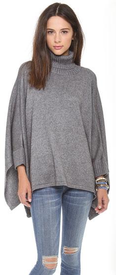 Ami Dans La Rue Solid Poncho Sweater