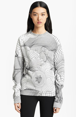 Christopher Kane Floral Grid Print Sweatshirt