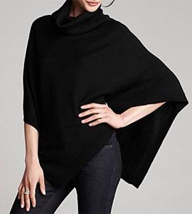 Eileen Fisher Turtleneck Wool Poncho