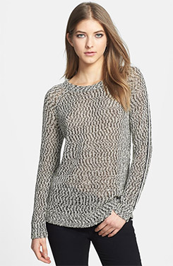 Trouvé Braid Trim Open Knit Sweater