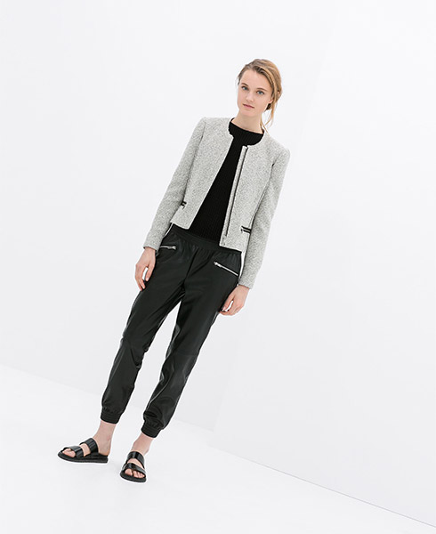 Zara Blazer with Zip Pockets