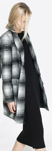 Zara Checked Coat