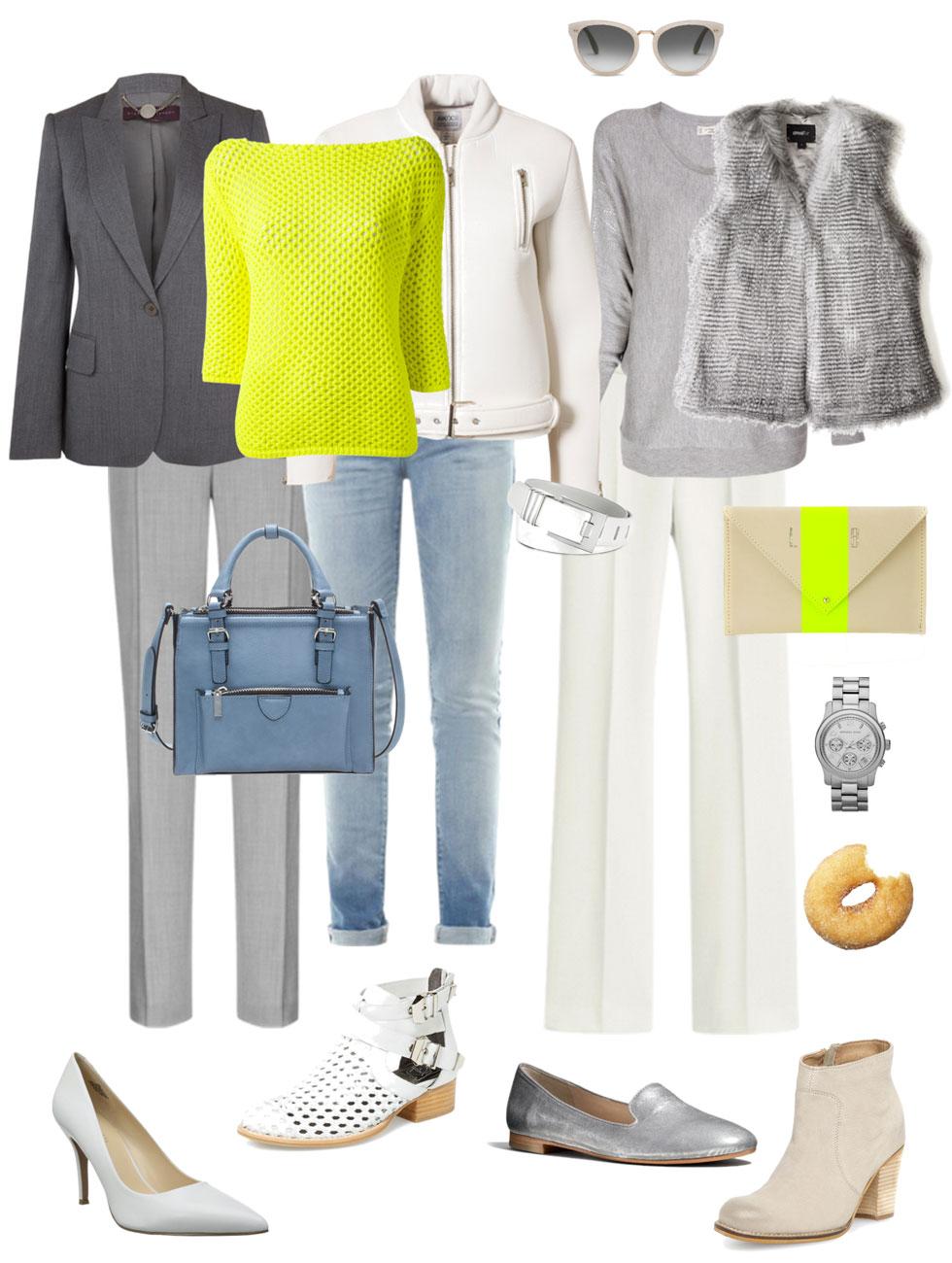 Ensemble: Grey, White and Citron
