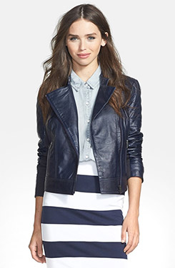 Halogen Leather Moto Jacket