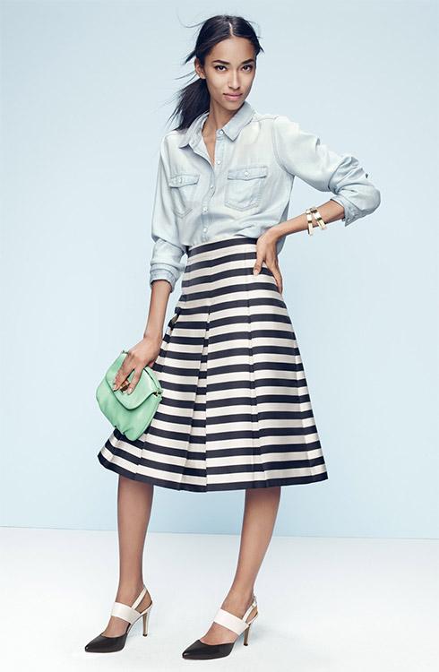 Halogen Pleat Midi Skirt