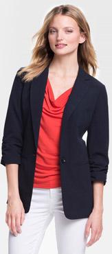 Michael Kors Ruched Sleeve Boyfriend Jacket