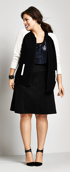 Sejour Twill A-Line Skirt