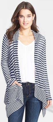 Splendid Hooded Stripe Cardigan