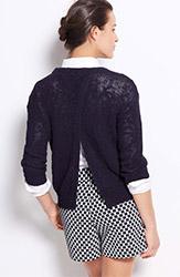 Ann Taylor Textured Open Back Sweater