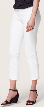 Loft Modern Cropped Jeans in White