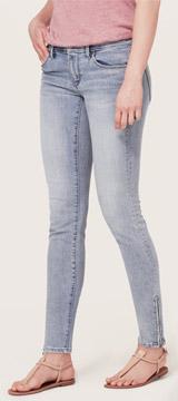 Loft Modern Skinny Ankle Zip Jeans in Garden Blue Wash