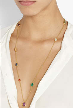 PIPPA SMALL 18 Karat Gold Multi Stone Necklace