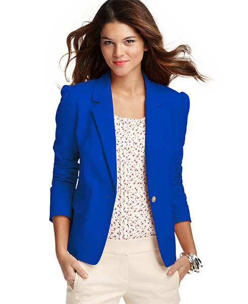 Pop Color Puff Sleeve Canvas Jacket