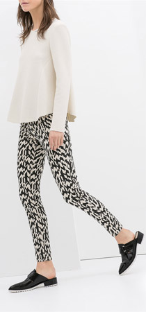 Zara 5 Pocket Printed Trousers